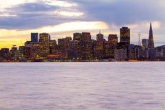 San Francisco en el ocaso foto de archivo