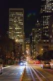 San Francisco en la noche Foto de archivo libre de regalías