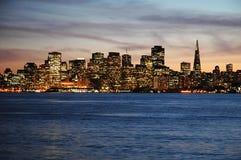 San Francisco en la puesta del sol Foto de archivo