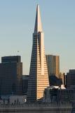 San Francisco en la puesta del sol Foto de archivo libre de regalías