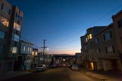 San Francisco entro la notte Richmond esterna immagine stock libera da diritti