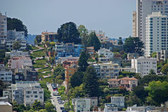 San Francisco et rue de Lombard photo stock