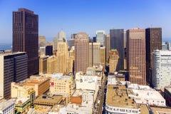Vue du dessus de toit à la ville de San Franzisco Photo stock
