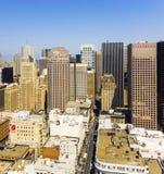 Vue du dessus de toit à la ville de San Francisco Photographie stock