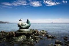 SAN FRANCISCO, EUA - 15 DE JULHO DE 2017: A gaivota e o sculptur Fotografia de Stock Royalty Free