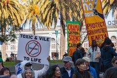 SAN FRANCISCO - 17 FÉVRIER : âForward massif sur le Ra de Climateâ Image libre de droits