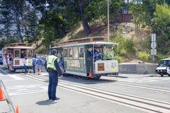 San-Francisco-förenade tillstånd, Juli 13, 2014: Autentiska San-Franci Royaltyfria Foton