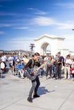 San-Francisco-förenade tillstånd, Juli 13, 2014: Positiv Caucasian M Fotografering för Bildbyråer