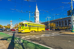 San Francisco f-line tram, California, USA Royalty Free Stock Images
