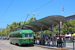 San Francisco - F-linha carros da rua Imagem de Stock Royalty Free