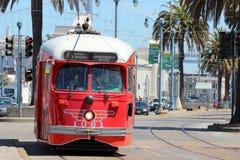 San Francisco - F-linha carros da rua Foto de Stock Royalty Free