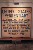 San Francisco Famous Alcatraz Warning Sign Fotografia Stock