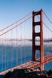 San Francisco Golden Gate bridge on foggy day dramatic evening l. San Francisco famous Golden Gate bridge on foggy day dramatic evening light view from Marin Stock Photos