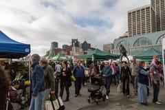 San Francisco Farmer's Market. Crowds gather for a farmer's market in San Francisco, California Stock Photos