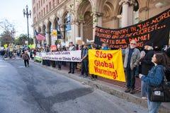 SAN FRANCISCO - 17 FEBBRAIO: âForward massiccio sul Ra di Climateâ Immagine Stock Libera da Diritti