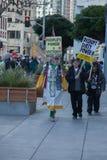 SAN FRANCISCO - FEBRUARY 17: Massive 'Forward on Climate' ra Stock Photos