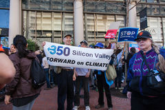 SAN FRANCISCO - FEBRUARY 17: Massive �Forward on Climate� ra Royalty Free Stock Image