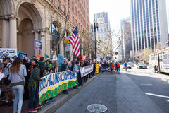 SAN FRANCISCO - FEBRUARY 17: Massive �Forward on Climate� ra Stock Photography