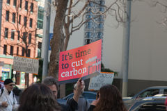 SAN FRANCISCO - FEBRUARY 17: Massive 'Forward on Climate' ra Stock Photo