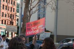 SAN FRANCISCO - FEBRUARY 17: Massive 'Forward on Climate' ra Stock Photo