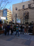 SAN FRANCISCO - FEBRUARY 17: Massive 'Forward on Climate' ra Royalty Free Stock Photo