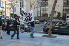 SAN FRANCISCO - FEBRUARY 17: Massive 'Forward on Climate' ra Stock Images