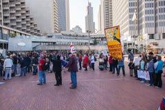 SAN FRANCISCO - FEBRUARY 17: Massive 'Forward on Climate' ra Royalty Free Stock Image