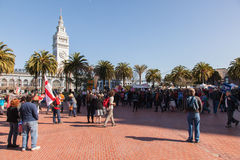 SAN FRANCISCO - FEBRUARY 17: Massive 'Forward on Climate' ra Royalty Free Stock Images