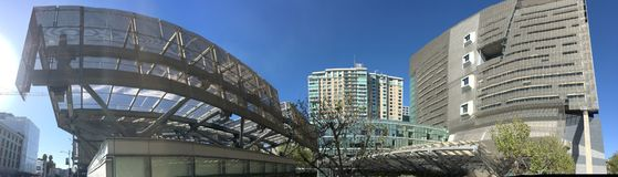 The 18 story San Francisco Federal Building wide to side. When the San Francisco Federal Building opened in 2007, it instantly received international Royalty Free Stock Images