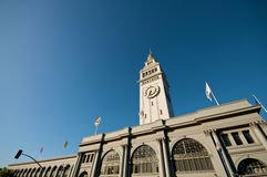 San Francisco Ferry Building. Ferry Building at the Embarcadero. Nikon D300, 10-20 Wide Angle royalty free stock images