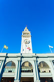 San Francisco Ferry Building Clock Tower Centered Stock Photos