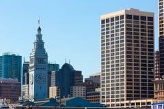 San Francisco Ferry Building Clock Tower in Embarcadero Royalty Free Stock Photos