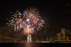 San Francisco Feuerwerke Stockfotos