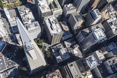 San Francisco Finacial District Architeure Aerial Royalty-vrije Stock Fotografie