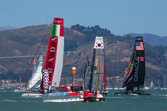 San Francisco during the final of the America's Cup 2012 Royalty Free Stock Image