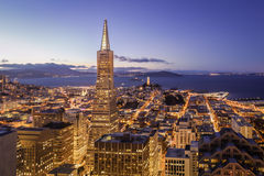 San Francisco Financial District Aerial View Royalty Free Stock Photo