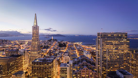 San Francisco Financial District Aerial View Royalty Free Stock Photos