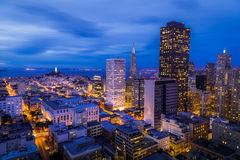 San Francisco Financial District Aerial View Royalty Free Stock Photography