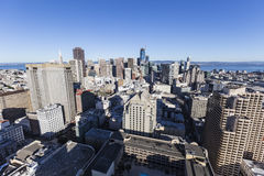 San Francisco Financial District Downtown Towers Stock Image