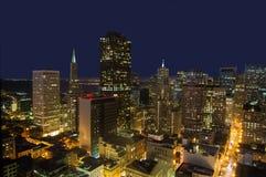 San Francisco Financial District Skyline alla notte Fotografia Stock Libera da Diritti