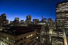 San Francisco Financial District Sunrise Royalty Free Stock Photos
