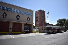 San Francisco Fire Department station 7 and training center, 3. San Francisco`s fire department is unique in that members have to go through, and pass, the royalty free stock photos