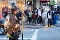 San Francisco fireman responding Royalty Free Stock Photo