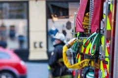 San Francisco fireman responding royalty free stock image