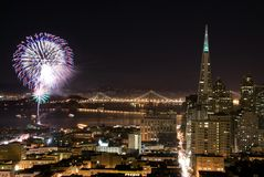 San Francisco fireworks Royalty Free Stock Photos