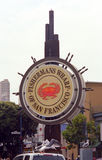 San Francisco - Fisherman's Wharf Sign Royalty Free Stock Photography