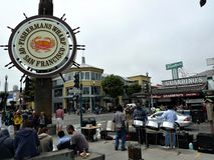 San Francisco Fishermans hamnplats arkivbilder