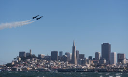 San Francisco Fleet Week air show Royalty Free Stock Photo