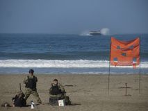 San Francisco Fleet Week. United States Marines Landing on Ocean Beach in San Francisco Royalty Free Stock Image