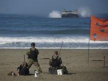 San Francisco Fleet Week. United States Marines landing at Ocean Beach in San Francisco Royalty Free Stock Images